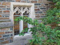Little window with pretty design.