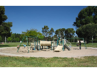 Ryon Memorial Park has plenty of trees, grass, and play areas.