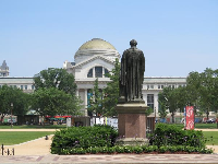 The museum, as seen from Smithsonian Castle, across the Mall.