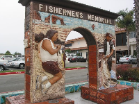 Memorial to the fishermen.