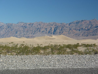 The dunes, along the road just south of Stovepipe Wells.