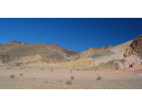 Mineral deposits color the hills at Artist's Palette.