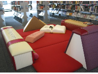 Place for kids to sit and enjoy all the brand new children's books in the library.