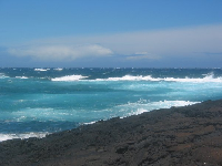 Painter's palette of sea colors at Punalu'u Beach.