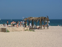 Party down at East Beach- a busy Sunday on the sand. Notice the tiki warrior station!