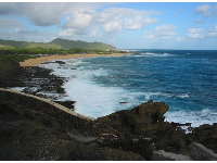View of Sandy Beach from Halona Blowhole Lookout.