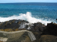 Halona Blowhole Lookout on a beautiful day.