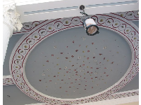 The wonderful ceiling outdoors at the entrance.