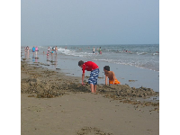 Boys play on Carpinteria Beach.