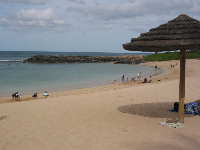 A shady spot to sit at Ko Olina Beach.