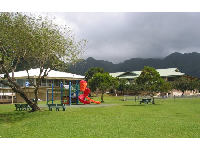 Greenest grass and mountains shrouded with clouds will surround you in Manoa Valley.