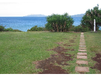 Square stepping stones to Portlock Point.