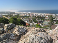 The rocks where you sit and take in a sweeping view of Pismo!