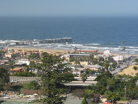 Pismo Pier, as seen from Boosinger Park.