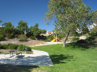 The playground and a BBQ area.