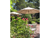 Garden where you can enjoy your afternoon cookie, at Old Monterey Inn.