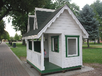 The little wooden house in City Park.