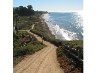 The trail that leads from the resort to the beach.