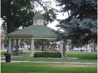 The gazebo in City Park, where summer concerts are held.