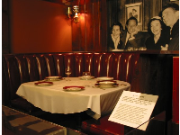 Booth where Nancy and Ronald dated.