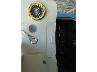 The seal on the door of Air Force One.