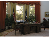 Reagan's oval office- a replica.