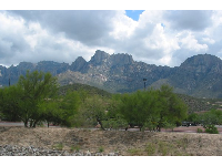 View of the Santa Catalina mountains as you flee Oro Valley.