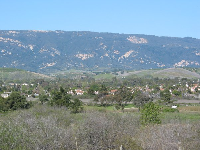Santa Ynez mountains, as viewed from Ellwood Bluffs.