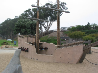 The ship playground at Tidelands Park.