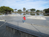 The skate park is often uncrowded and offers lovely views.