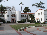Historic buildings on northern end of campus.