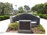 The park on Glorietta Blvd is a memorial to a young military pilot.