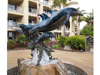 Dolphin sculpture at Dolphin Bay Resort.