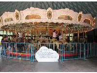 The well-cared-for carousel.