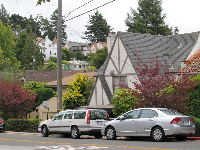 The hilly streets of North Berkeley.
