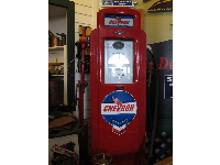 Old Chevron gas pump.