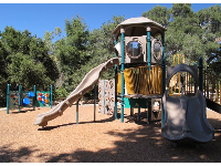 The play area.