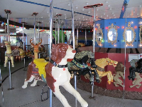 Carousel inside the arcade game area.