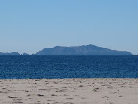 On clear days you can see Anacapa Island beautifully! This is the day after Thanksgiving.
