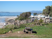 Camping at Carpinteria State Beach.