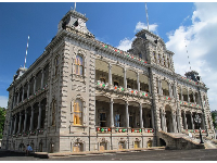 Iolani Palace with its 88 columns is extremely ornate.