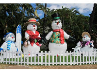 Snowmen in Hawaii.