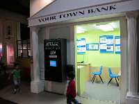 The town bank.