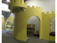 The castle room where you can read quietly.