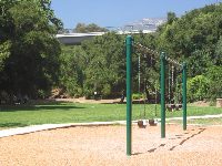 The swings, with Foothill Rd bridge and Santa Ynez mountains behind.
