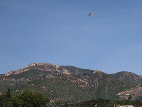 Hangglider enjoying the day. They jump off at Gibraltar Rd.