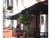 Stop in for coffee at Good Cup Downtown, one block up State Street from El Paseo!