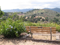 It's so peaceful to sit and take in the views at Conejo Valley Botanical Garden!