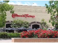 Outdoor seating at The Cheesecake Factory.