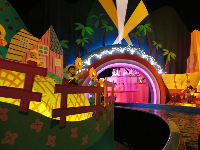 It's magical inside It's a Small World.